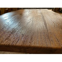 Altholz-Stil Tischplatte, Eiche, rustikal, verleimt, Antik geölt, strukturiert, Maße wählbar