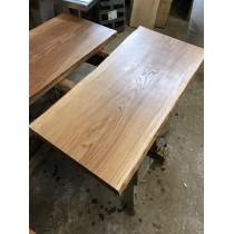 Baumscheibe, Waschtisch, Tischplatte, unbesäumt/gerade, Eiche, Baumkante 110x40x4,5cm geölt