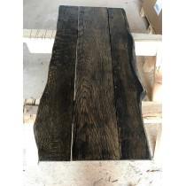 Tischplatte, Bohlen Eigenbau, Eiche, Altholz-Stil, BLACK, STRUKUTRIERT, 150x80x3,5cm