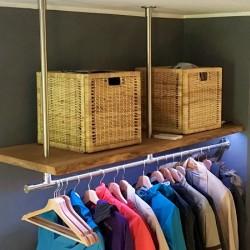 Kundenprojekt: Eichenholz als Garderoben-Ablage!