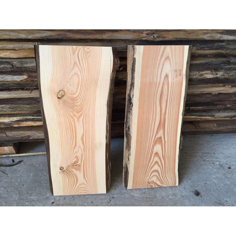 Holzbretter Mit Rinde baumscheibe brett bohle rustikal unbesäumt lärche handwerk