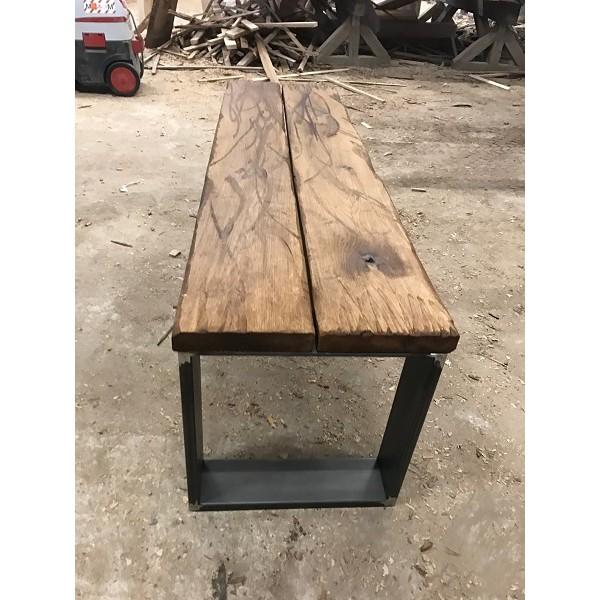 Altholz-Stil, rustikal, antik, Balken, Bohle, Eiche, geölt, Massivholz, 150x20x3,5cm