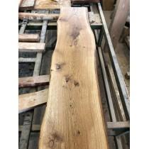 Baumscheibe, Tischplatte, Bar, Bohle, rustikal, Eiche, geölt, Massivholz, Länge wählbar