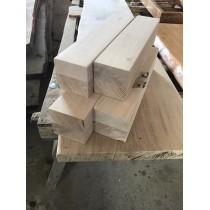 4 x Tischbein, Kantholz, Bettpfosten, Balken, Eiche, rustikal, 45 x 11 x 11 cm verleimt