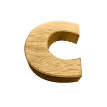 XXL 30cm Holzbuchstaben und Zahlen aus Eiche, 3D, Massivholz, CNC gefräst, Logo, Wanddeko, Alphabet