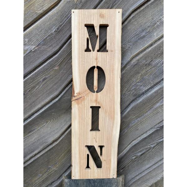 HOME, MOIN, AHOI, CAFÉ - Willkommensschild, Haustür, Brett, Holzschild, Deko, Gartenschild, CNC gefräst, 70 cm