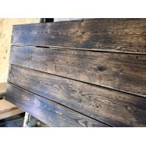 Baumscheibe, Tischplatte, Bohle, Eiche, Altholz, geflammt, antik geölt, Massivholz, Länge wählbar