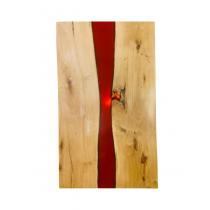 Unikat Tischplatte Eiche, Rivertable, Epoxidharz, Esstisch, Massivholz, 200x100x3,5cm