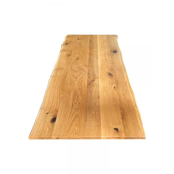 Tischplatte, Wildeiche, Eiche, geölt, rustikal, verleimt, beidseitige Baumkante, Maße wählbar