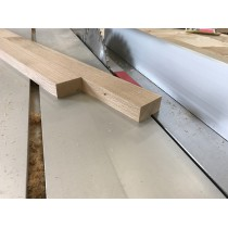 3 Stück, Eiche, Leiste, Kantholz, 100x6x4cm, vierseitig gehobelt, naturbelassen