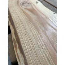 STRUKTURIERT, Baumscheibe, Brett, Bohle, rustikal, unbesäumt Lärche, Massivholz 80x25x2,5cm