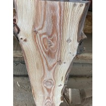 STRUKTURIERT, Baumscheibe, Brett, Bohle, rustikal, unbesäumt Lärche, Massivholz 120x20-25x2,5cm