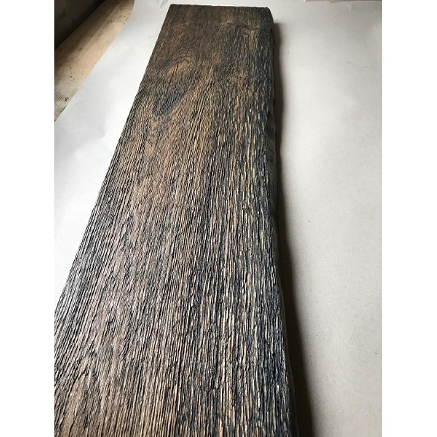 Altholz Stil Regal Ablage Strukturiert Geburstet Baumkante Eiche Schwarz Black Geolt 100x15x3 5cm
