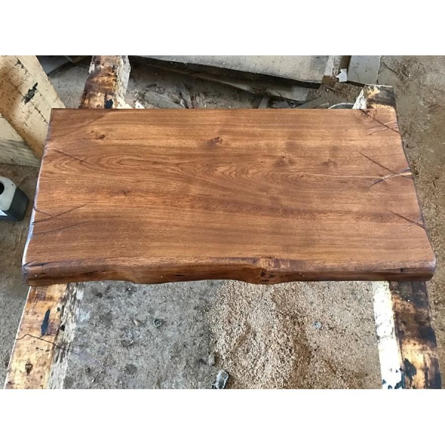 baumscheibe waschtisch tischplatte altholz stil antik eiche baumkante 100x40x4 5. Black Bedroom Furniture Sets. Home Design Ideas