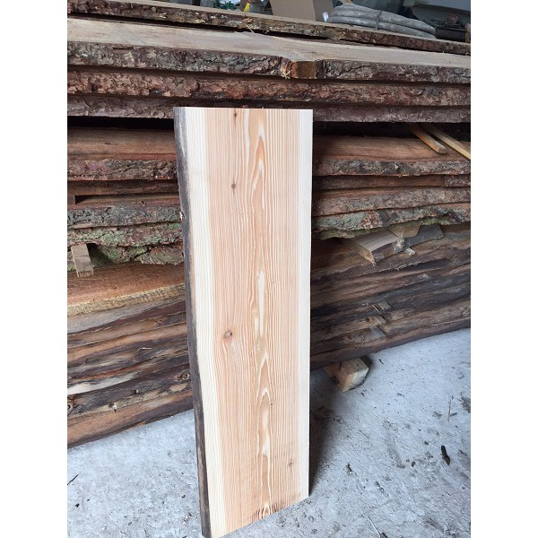 Baumscheibe, Brett, Bohle, rustikal, unbesäumt/gerade Lärche, Massivholz 120x25x2,5cm