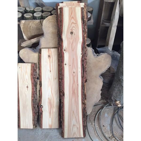 Baumscheibe, Brett, Bohle, rustikal, Heimwerker, Handwerk, Massivholz, 100cm, Lärche