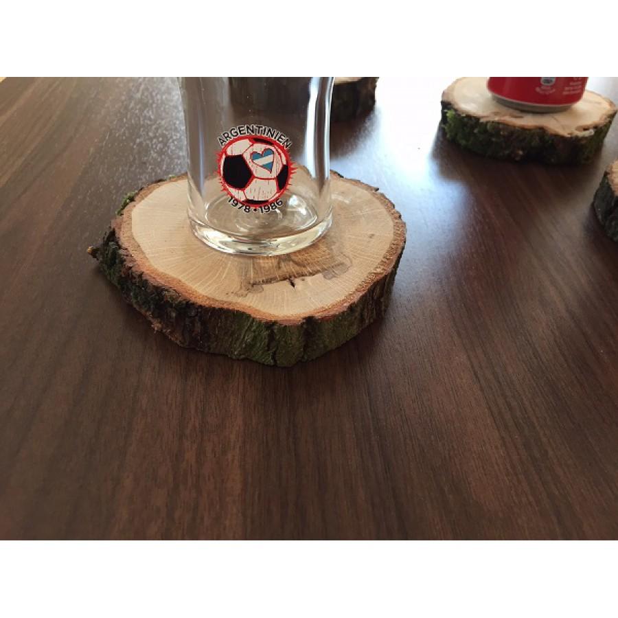 baumscheibe rustikal vollholz untersetzer f r gl ser eiche 6 stk tisch. Black Bedroom Furniture Sets. Home Design Ideas