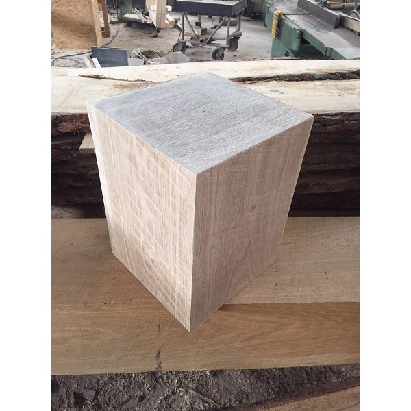 Holzblock, Holzdeko, Sitzhocker, Säule, Beistelltisch, Eiche, 30x29x29cm