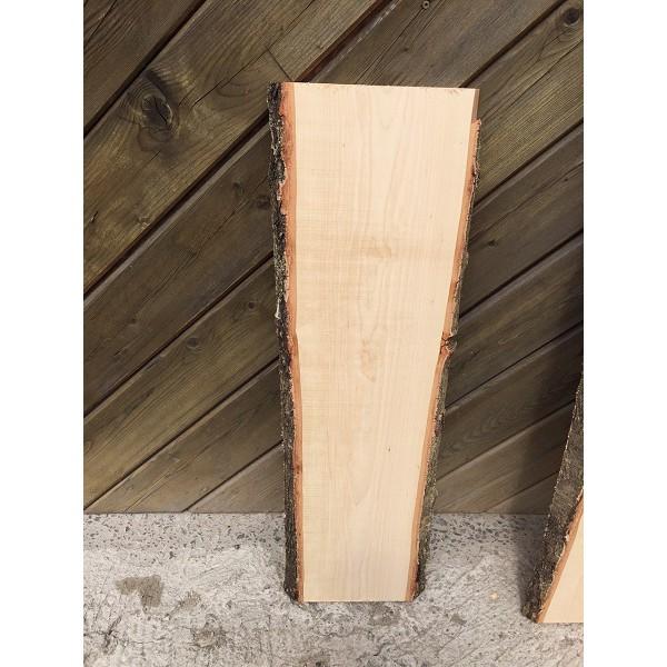 Baumscheibe, Brett, Bohle, rustikal, Birke, Handwerk, Massivholz 200x20x3cm