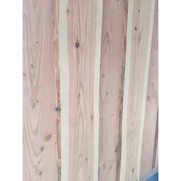 Baumscheibe, Brett, Bohle, rustikal, unbesäumt Lärche, Wandverkleidung Holz 1qm