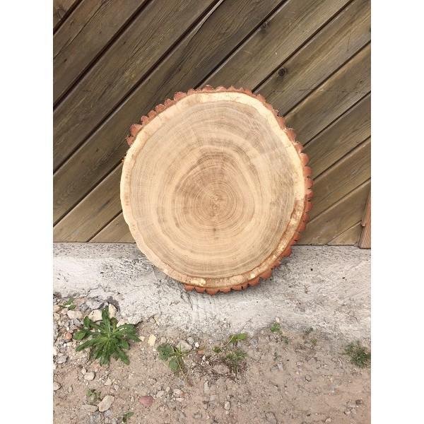 Baumscheibe, Tischplatte, Eiche, rustikal, Tisch, 55 cm geschliffen