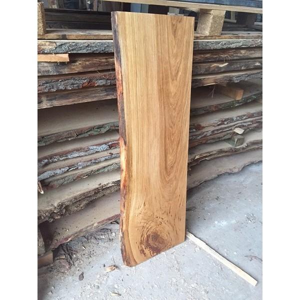 Tischplatte, Waschtisch, Eiche, unbesäumt, gerade, ein Stück, Baumkante, rustikal, 100x40-45x4,5cm