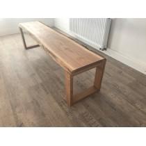 Eiche, Tischbein, Tischgestell, Kufen, Kufengestell natur, Massivholz, 70x75 cm