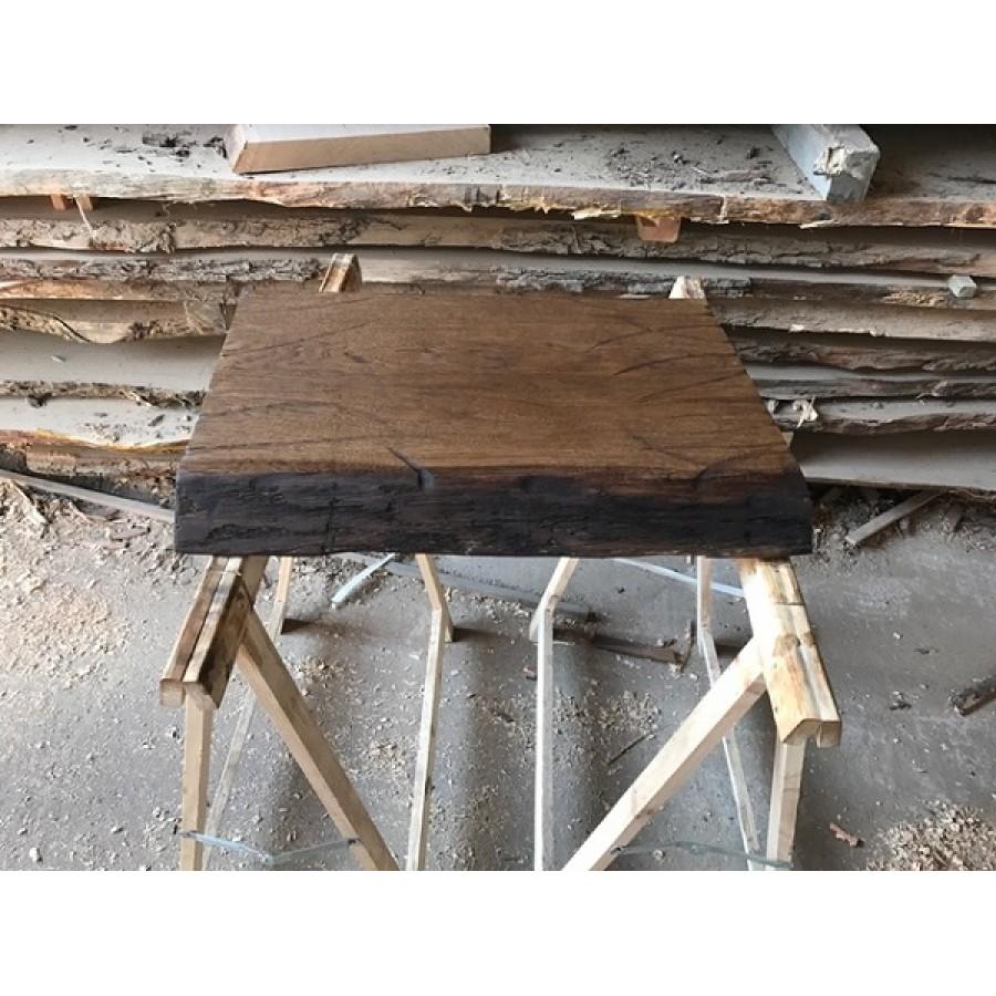 Waschtisch, Tischplatte, Altholz-Stil, Antik, Eiche, Baumkante ... | {Waschtischplatte altholz 80}