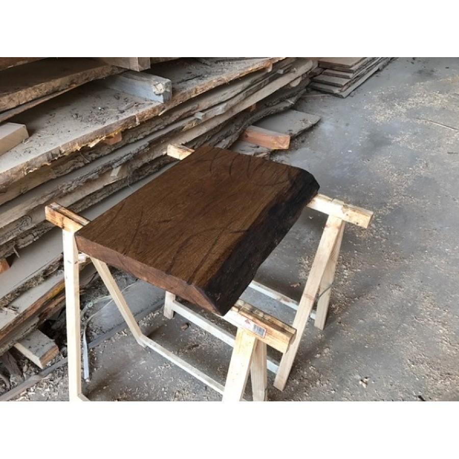 baumscheibe waschtisch tischplatte altholz stil antik eiche baumkante 120x45x4 5. Black Bedroom Furniture Sets. Home Design Ideas