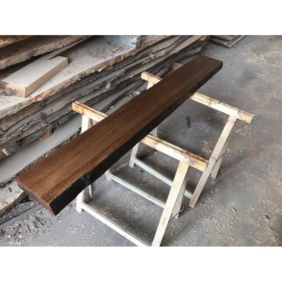 Eiche Regal Geschliffen Altholz Stil Antik Baumkante 100x15x4 5cm