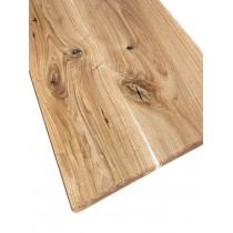 Holzplatte Wildeiche für IKEA Lowboard, rustikal, glattkant, geölt, Maße wählbar