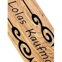 Kaufmannsladen Schild, Holzschild, Eiche, Gravur, personalisiert, CNC gefräst, Wunschmaße möglich