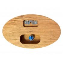 Individuelles Klingelschild aus Eiche, Türschild, Namensschild, Gravur, Türklingel, personalisiert, Holz, CNC gefräst