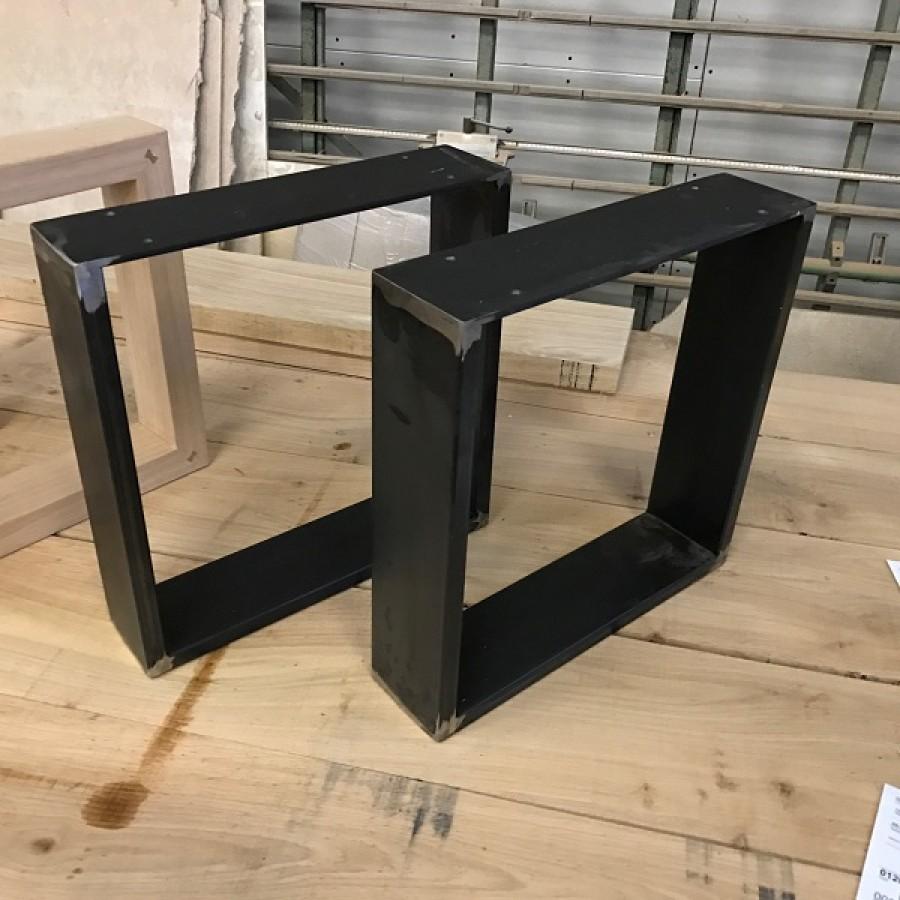 Tischkufen Tischbeine Tischgestell Per Hand Geschmiedet Lasiert