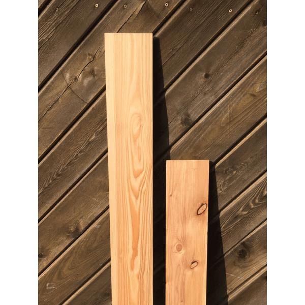 Lärche, Glattkantbrett, besäumt, Handwerk, Heimwerker, Massivholz, Länge und Breite wählbar