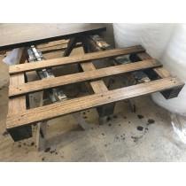 Palettenmöbel, Palette, Regal, Tischplatte, Eiche, Altholz-Stil, strukturiert, BROWN, 120 x 60 cm