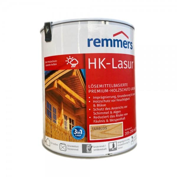 Remmers HK Lasur 3in1, Holzschutz im Außenbereich, Holzlasur, farblos, 750ml