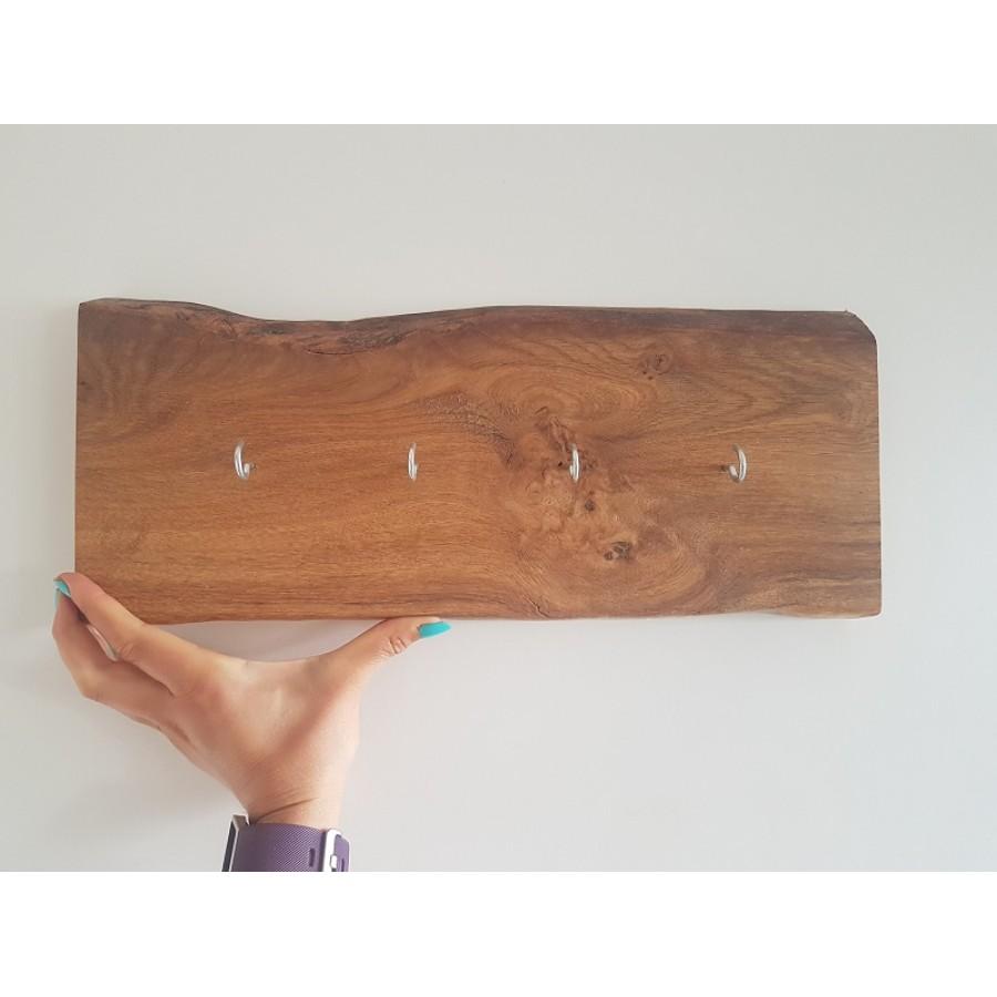 Schlüsselbrett Eiche schlüsselbrett mit haken eiche, halter, baumscheibe, brett, bohle