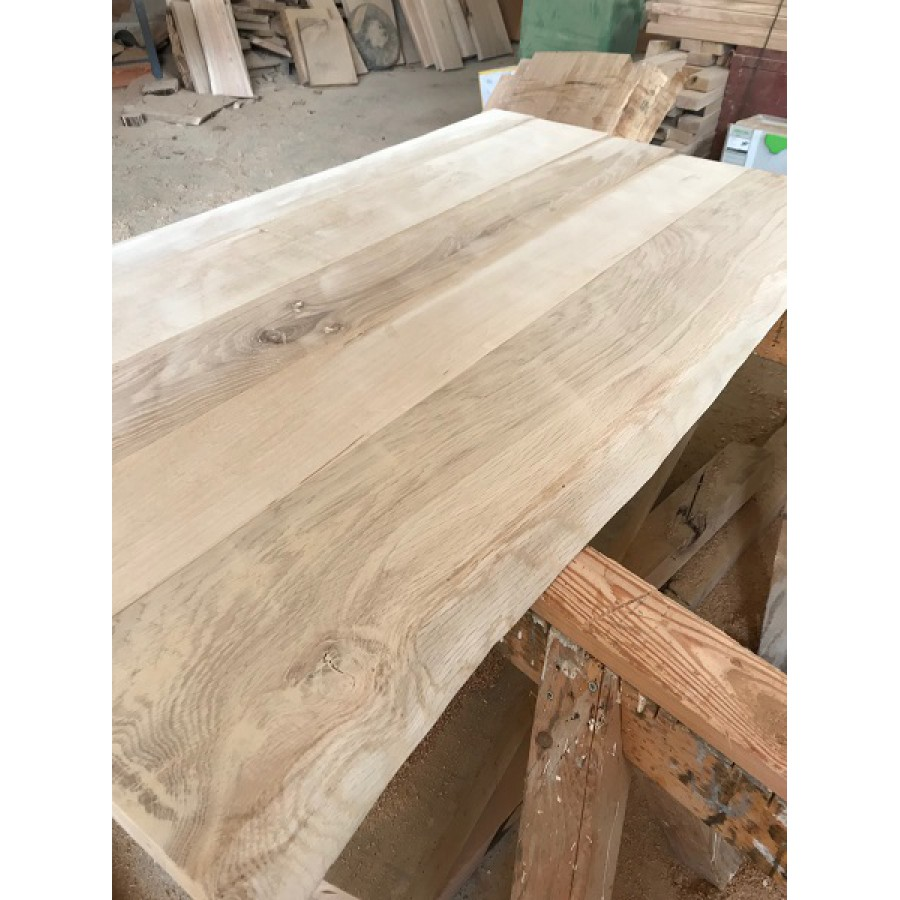 Tischplatte massivholz baumkante  Selbstbau-Set, DIY, Eiche, Massivholz Tischplatte, gehobelt, Baumkanten  120x60x4,5cm