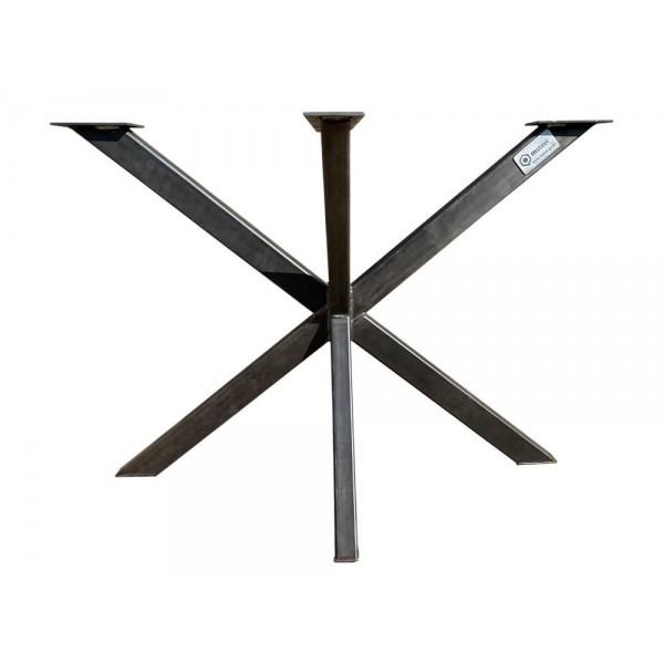 Spider Tischbein aus Rohstahl, Stern, Tischgestell, Tischuntergestell, H: 72 x B: 60 x L: 100 cm