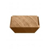 Stövchen aus Eiche, Teewärmer, Kaffeewärmer, aus einem Stück gefräst, gehobelt, geschliffen, geölt, 15x15x5,5cm