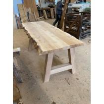 2 Stück Eiche Tischgestell, Tischbein, A-Form, Kufengestell, 72x76 cm