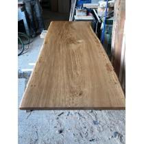 Besondere Tischplatte, Eiche, Vollholz, aus einem Stück gewachsen, 200x90-100x4,5 cm, Baumkanten, geölt