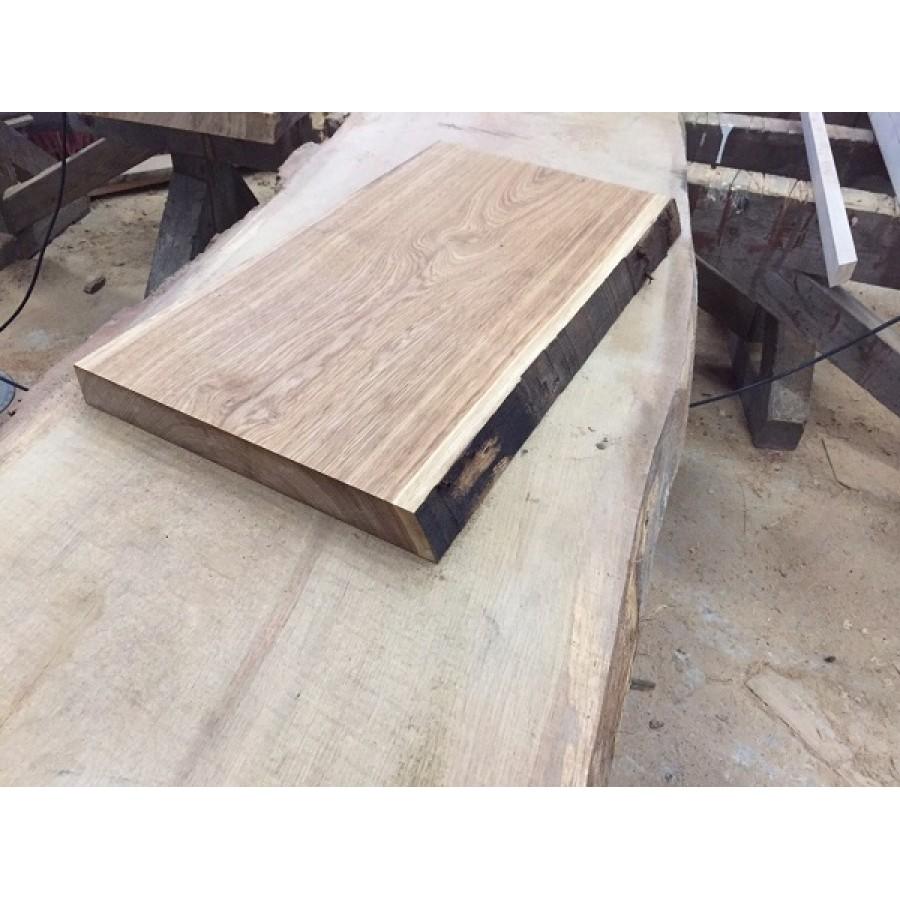 baumscheibe waschtisch tischplatte unbes umt gerade eiche baumkante 60x45x4 5cm ge lt. Black Bedroom Furniture Sets. Home Design Ideas