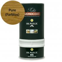 Holzöl und Beschleuniger, Rubio MONOCOAT OIL Plus - Pure (Farblos) A+B 350ml - Umweltschonend