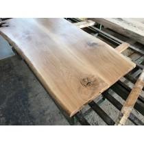 Neu Leimholzplatte Aus 2 Eichenbohlen, Geölt, Tischplatte, Baumkante,  160x85x4,5cm