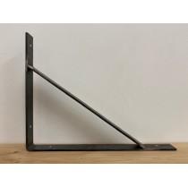 2 Stück Waschtischplattenhalter, Wandhalterung, Flachstahl, Rohstahl, handgefertigt, 45 x 35 cm