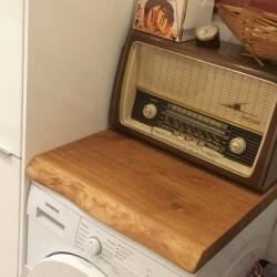 Kundenprojekt: Eichenplatte als Waschmaschinenauflage!