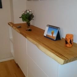Kundenprojekt: Eichenbohle als Auflage für Sideboard!