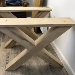Neu im Sortiment: Tischkreuze, Tischgestell aus Eiche!